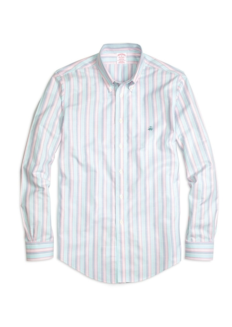 Brooks Brothers Madison Fit Oxford Stripe Sport Shirt