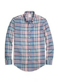 Madison Fit Plaid Linen Sport Shirt