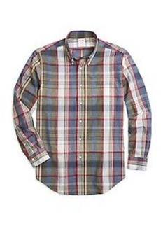 Madison Fit Plaid Sport Shirt