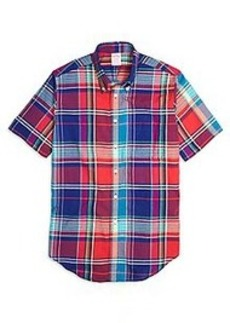 Madison Fit Sodalite Madras Short-Sleeve Sport Shirt