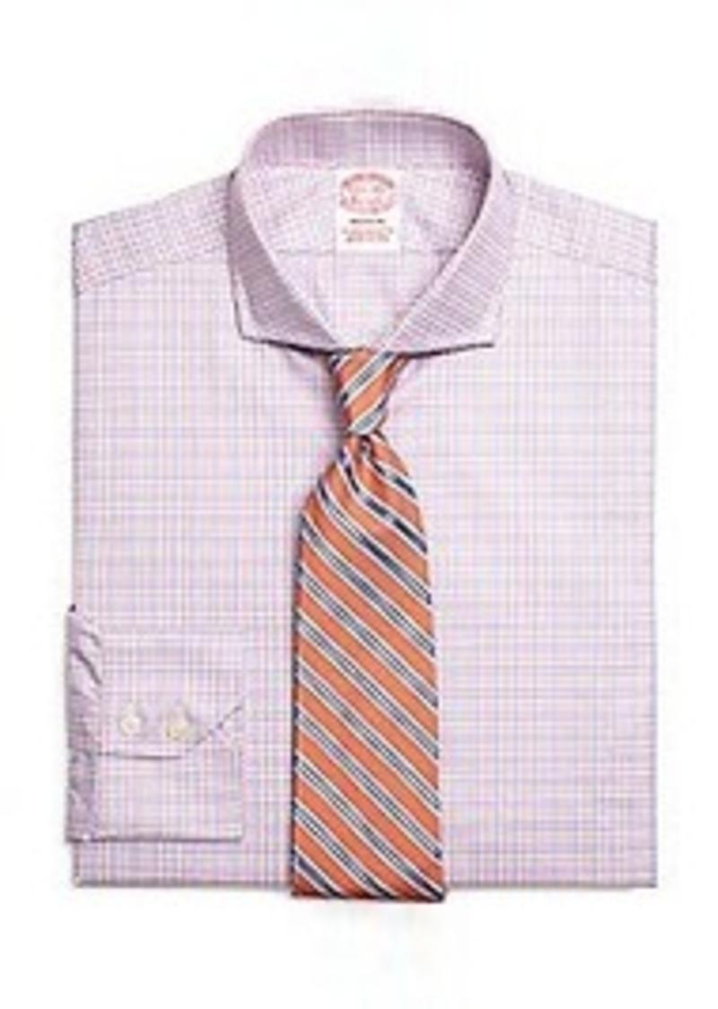 Brooks brothers madison fit twin check dress shirt dress for Brooks brothers dress shirt fit