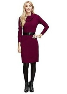 Merino Wool Cowl Neck Dress