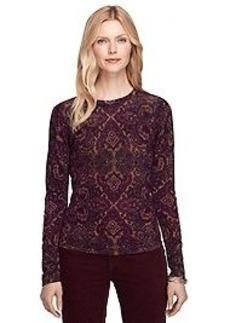 Merino Wool Paisley Sweater