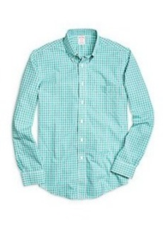 Non-Iron BrooksCool® Madison Fit Small Plaid Sport Shirt