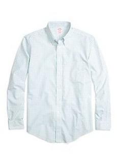 Non-Iron BrooksCool® Madison Fit Tattersall Sport Shirt