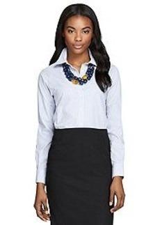 Non-Iron Classic Fit Stripe Dress Shirt