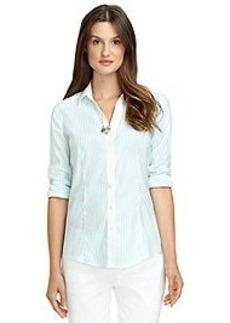 Non-Iron Fitted Bengal Stripe Pick Stitch Dress Shirt