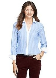 Non-Iron Fitted Bold Stripe Dress Shirt