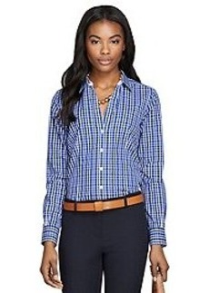 Non-Iron Fitted Check Dress Shirt
