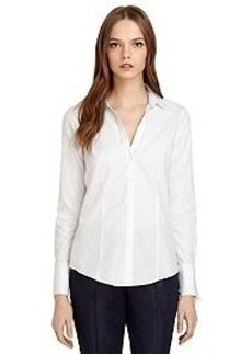 Non-Iron Fitted Double Dash Stripe Dress Shirt