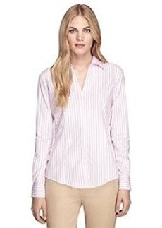 Non-Iron Fitted Stripe Dress Shirt