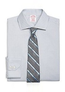 Non-Iron Madison Fit Alternating Frame Check Dress Shirt