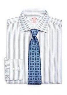 Non-Iron Madison Fit Alternating Stripe Dress Shirt