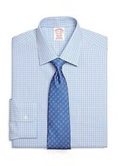 Non-Iron Madison Fit Framed Overcheck Dress Shirt