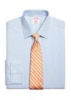 Non-Iron Madison Fit Glen Stripe Dress Shirt