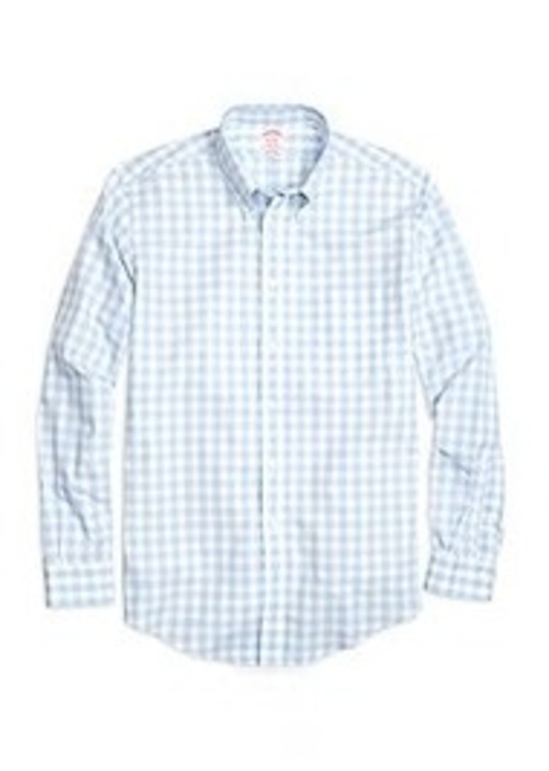 Brooks Brothers Non Iron Madison Fit Large Gingham Sport