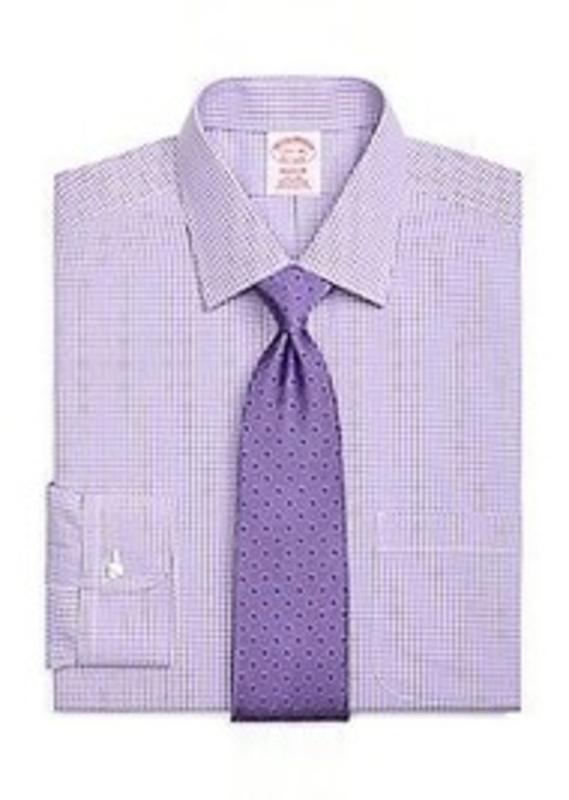 Brooks brothers non iron madison fit micro gingham dress for Brooks brothers dress shirt fit