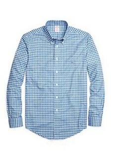 Non-Iron Madison Fit Slub Check Sport Shirt