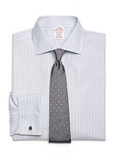 Non-Iron Madison Fit Triple Stripe French Cuff Dress Shirt