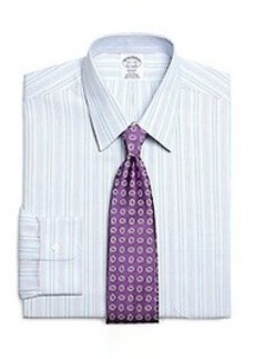 Non-Iron Regent Fit Hairline Alternating Stripe Dress Shirt