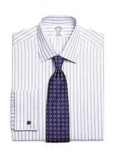 Non-Iron Regent Fit Split Stripe French Cuff Dress Shirt