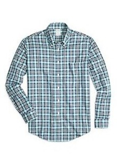Non-Iron Regent Fit Tonal Plaid Sport Shirt