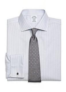 Non-Iron Regent Fit Triple Stripe French Cuff Dress Shirt