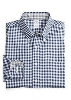 Non-Iron Slim Fit Framed Mini Check Sport Shirt