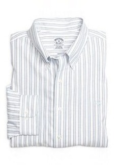 Non-Iron Slim Fit Framed Stripe Sport Shirt