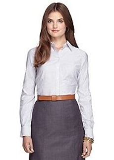 Non-Iron Tailored Fit Bengal Stripe Dress Shirt