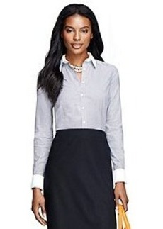 Non-Iron Tailored Fit Houndstooth Dress Shirt