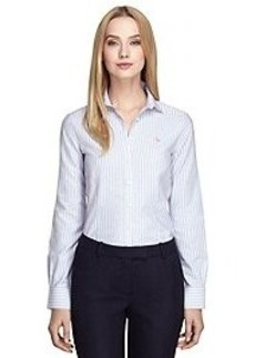 Non-Iron Tailored Fit Oxford Stripe Dress Shirt