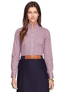 Non-Iron Tailored Fit Ruffle Collar Dress Shirt