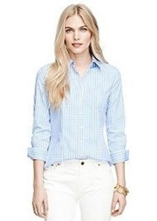 Non-Iron Three-Quarter Sleeve Gingham Dress Shirt