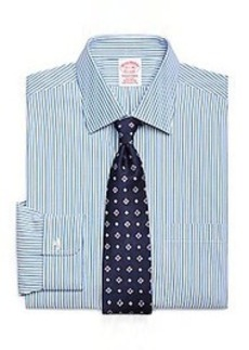 Non-Iron Traditional Fit Ombre Stripe Dress Shirt