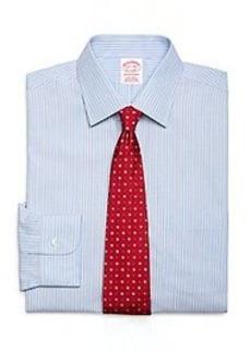 Non-Iron Traditional Fit Split Stripe Dress Shirt
