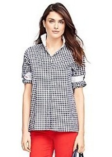 Petite Cotton Check Tunic