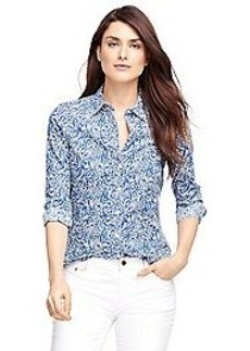 Petite Tailored Fit Liberty of Arts Printed Shirt