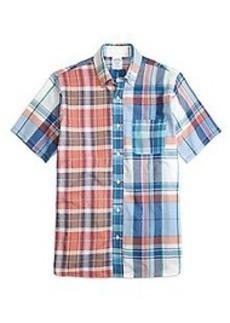 Regent Fit Fun Madras Short-Sleeve Sport Shirt