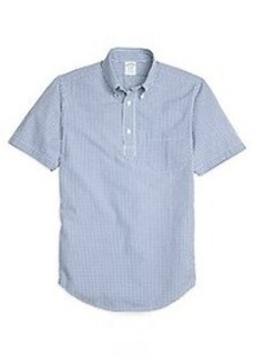 Regent Fit Gingham Seersucker Popover Short-Sleeve Sport Shirt