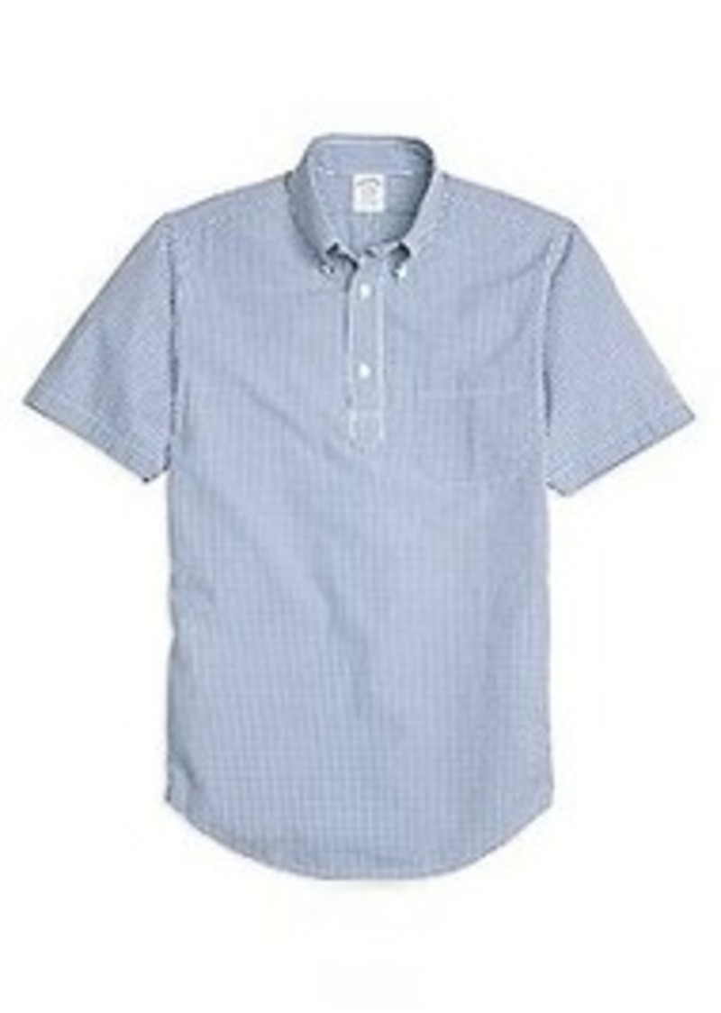 Brooks Brothers Regent Fit Gingham Seersucker Popover