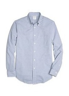 Regent Fit Horizontal Stripe Seersucker Sport Shirt