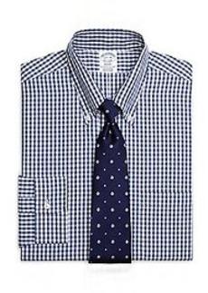 Regent Fit Split Windowpane Dress Shirt