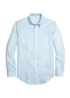 Regent Fit Stripe Linen Sport Shirt