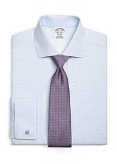 Regent Fit Windowpane French Cuff Dress Shirt