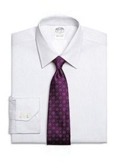 Slim Fit Alternating Stripe Dress Shirt