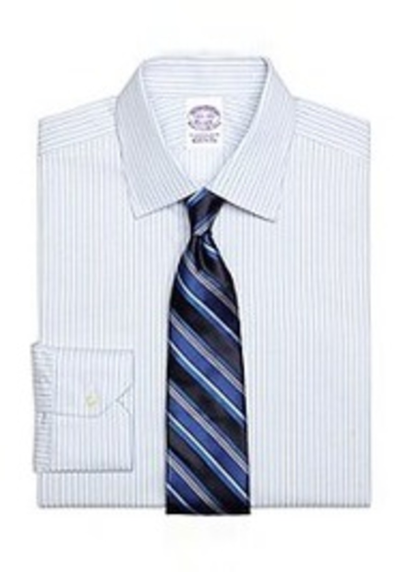 Brooks Brothers Regular Fit Framed Stripe Dress Shirt
