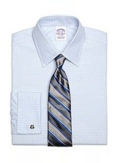 Regular Fit Micro Tonal Check French Cuff Dress Shirt