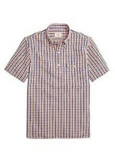 Seersucker Check Popover Short-Sleeve Sport Shirt