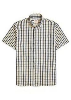 Seersucker Check Short-Sleeve Sport Shirt